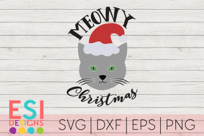 Christmas SVG | Meowy Christmas | Funny Quote Design
