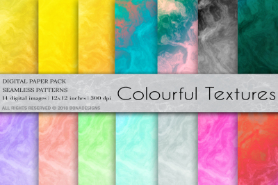 Colourful Textures Digital Paper