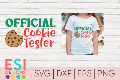 Christmas SVG | Official Cookie Tester