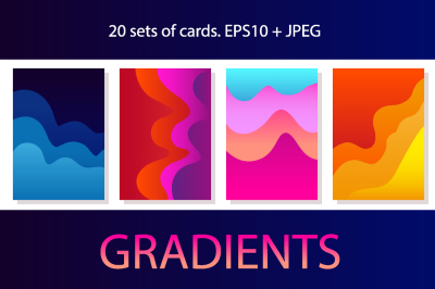 Gradients. 20 Sets of Colorful Cards