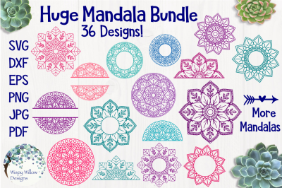 Mandala Bundle | 36 Designs