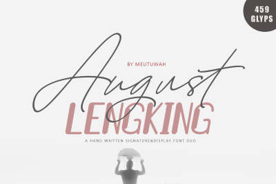 August Bold&LENGKING SLANT Font duo