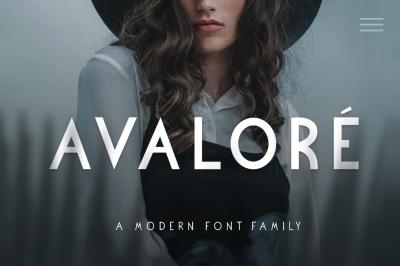 Avalore - Modern Font Family