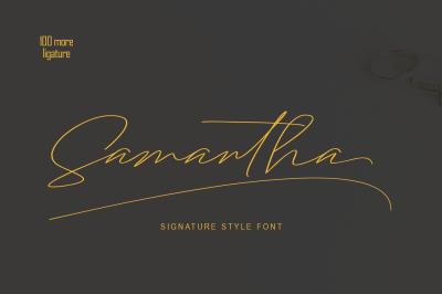 Samantha Signature Font