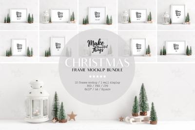 Christmas frame mockup bundle