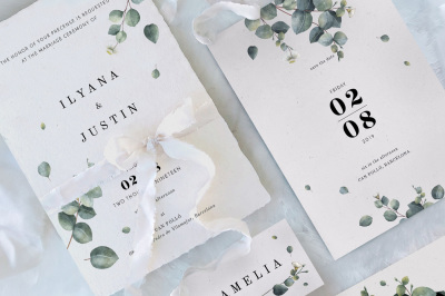 Eucalyptus Foliage Wedding Suite