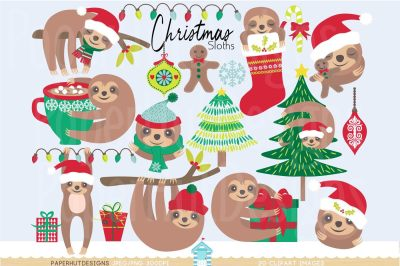 Christmas Clipart Sloth