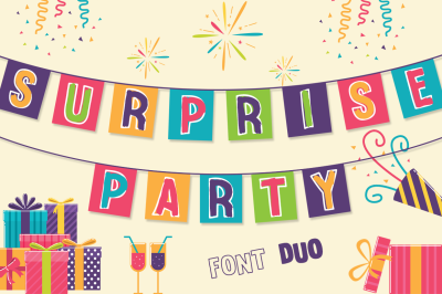 Surprise Party Font Family for Kids, Birthdays and Fun!