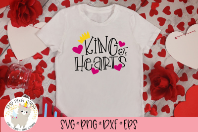 King Of Hearts SVG Cut File