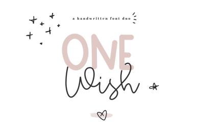 One Wish - A Handwritten Script & Print Font Duo