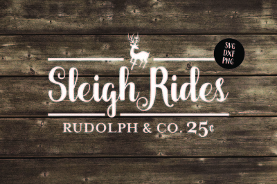 Sleigh Rides SVG, PNG, DXF