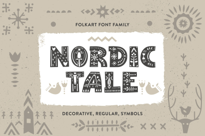 Nordic Tale - Folkart Font Family