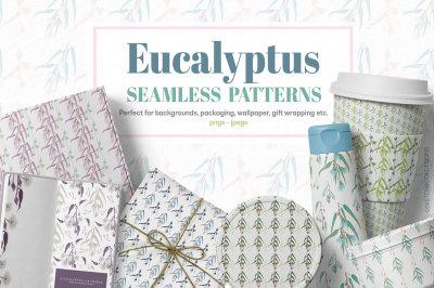Eucalyptus Seamless Pattern Bundle
