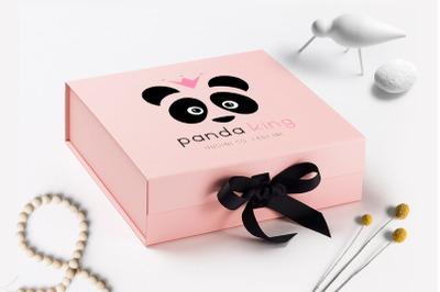 Panda King Logo Design