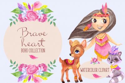 Brave heart. Boho collection.