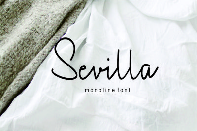 Sevilla monoline font