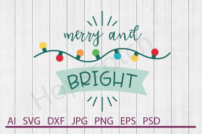 Christmas Lights SVG, Christmas Lights DXF, Cuttable File