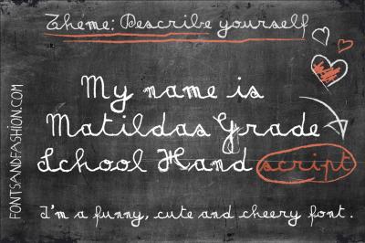Matildas Grade School Hand_Script