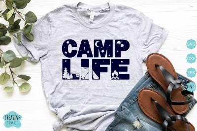 Camp Life Svg