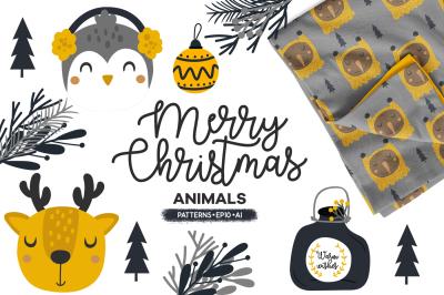 Merry Christmas, Cute animals