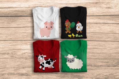 Farm Animal Set   SVG   PNG   DXF