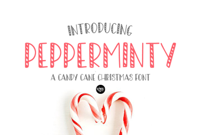PEPPERMINTY Candy Cane Christmas Font