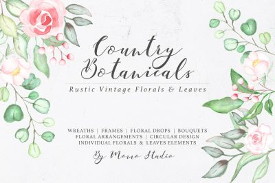 Country Botanicals Florals & Leaves
