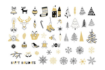 Christmas Decoration icon set