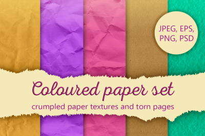 Colored paper set