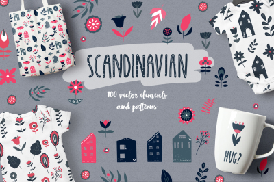 Scandinavian House and Flowers