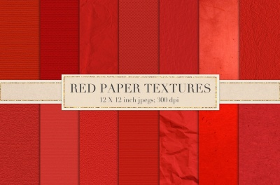 Red paper textures