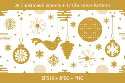 Golden Christmas Patterns