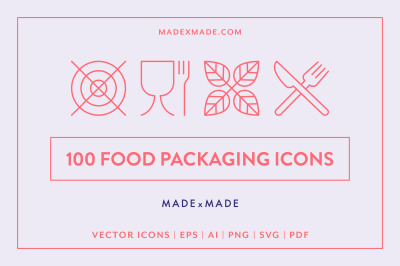 Line Icons  Food Packaging