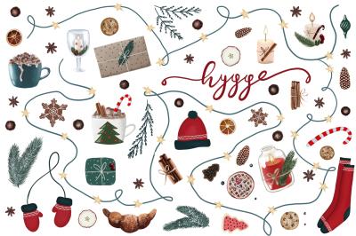 Hygge Handdrawn Christmas Collection