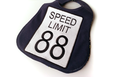 Speed Limit 88 Sign | Applique Embroidery