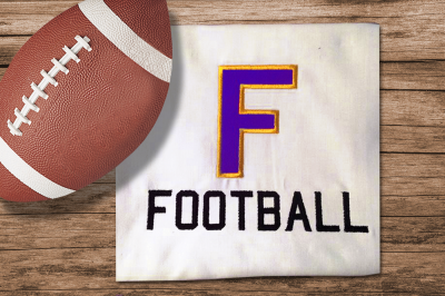 F for Football | Applique Embroidery