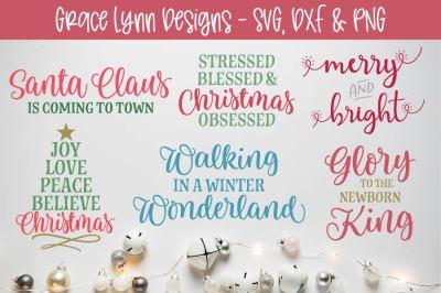 Christmas Cut File Bundle - SVG, DXF, PNG