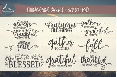 Thanksgiving Cut File Bundle - SVG, DXF & PNG