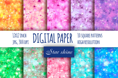 Star sparkle digital paper