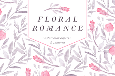 FLORAL ROMANCE – Watercolor Peonies Pack