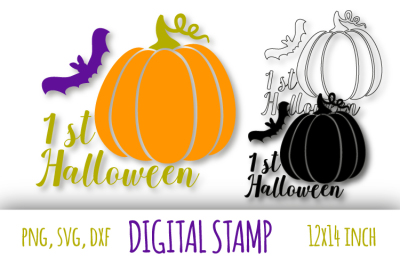 1st Halloween svg. Baby's Halloween party Lead with the keywords that