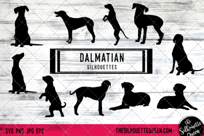 Dalmatian Dog Silhouette Vectors