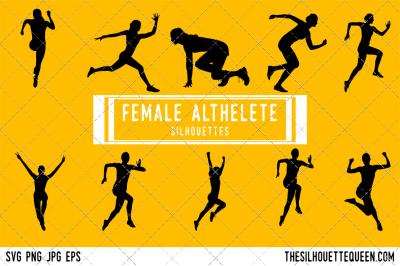 Female Athlete Silhouette Vector