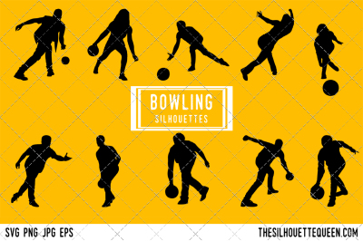 Bowling Silhouette Vector