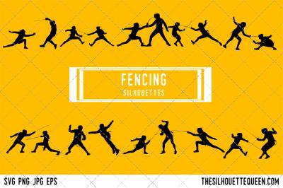Fencing Silhouette Vector