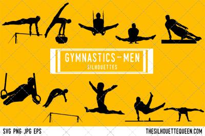 Male Gymnastics  Silhouette Vector