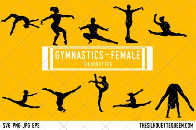 Female Gymnastics  Silhouette Vector