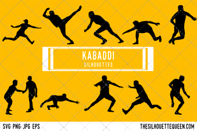 Kabaddi Player Silhouette Vector