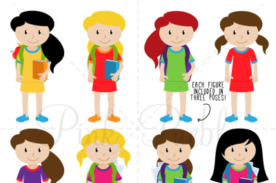Female Student Clipart and Vectors
