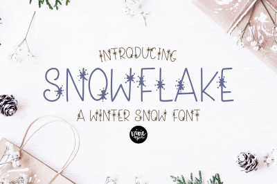 SNOWFLAKE Winter Snow Font